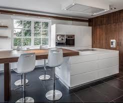 cuisine blanche design cuisine blanc mat et bois photos de design d intérieur et