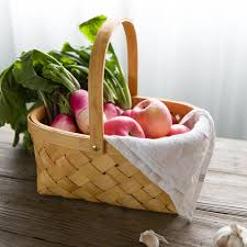 kitchen gift basket ideas aliexpress com buy natural fir sheet handmade wood woven baskets