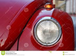 volkswagen old red vw volkswagen beetle old stock image image of detail 9835601