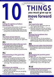10 things you must give up to move forward move forward life