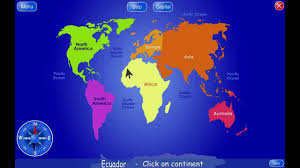 World Continents And Countries Map by Geo4kids World Atlas And Geography Quiz For Kids Youtube