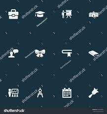 vector illustration set simple school icons stock vector 676497886
