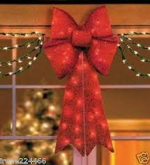 Outdoor Lighted Tinsel Christmas Decorations by Xmas Collection On Ebay