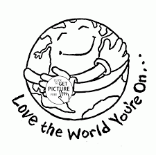 love the world earth day coloring page for kids coloring pages