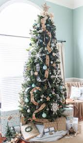navy buffalo check and turquoise christmas tree the turquoise home