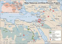 middle east map water bodies water crisis in the middle east and africa britannica