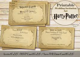 harry potter wedding invitations instant wedding invitation save the date and rsvp card