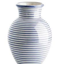Striped Vase Art Floral Blue Dot Stripe Congo Vase Accessories Pinterest