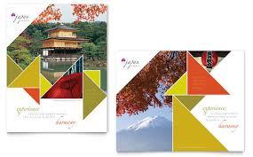 japan travel brochure template reachcenter me