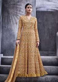 anarkali wedding dress wedding dress anarkali floor length beige floor length