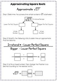 square roots interactive notes and worksheet 8 ns 2