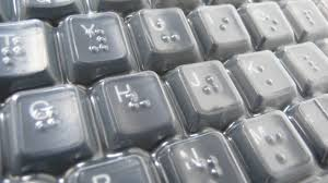 Assistive Technology For The Blind This Is A Braille Keyboard Cover For People Who Are Blind