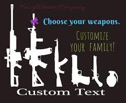 gun family sticker custom