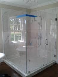 How Much Are Shower Doors Stylish Frameless Glass Shower Doors Bathroom Interior Image Of