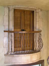 faux stone column balcony