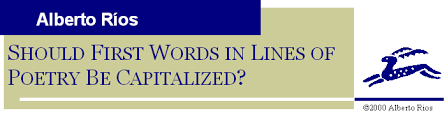 should first words in lines of poetry be capitalized