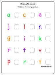 missing alphabets worksheets kindergarten letter recognition