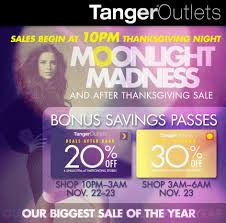 tanger factory outlets runs moonlight madness and black friday