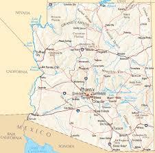az city map arizona map map of arizona