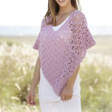 Handmade Poncho - crochet poncho cotton summer poncho beachrobe swimsuit cover