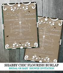 Make Your Own Bridal Shower Invitations Rustic Chic Bridal Shower Invitations Vertabox Com