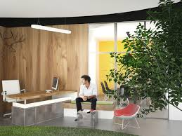 Zig Zag Reception Desk Lowe Mena Offices Interior Design In Riyadh On Behance