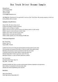 Sample Resume For Truck Driver Resume Cover Letter Template Truck Driver