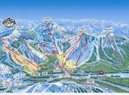 Ski Utah Map by Sugar Bowl Piste Map Trail Map