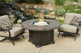 marbleized noche colonial chat dining or pub height fire pit