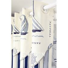 Sailboat Shower Curtains And Sailboat Ready Made Room White Blue Nautical Curtains