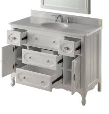 Cottage Style Bathroom Vanities by White Cottage Knoxville Bathroom Vanity W Mirror Gd 1522w 48mir