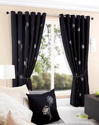 Black And Silver Curtains Livingroom Amazing Modern Style Black Colors Window Curtains