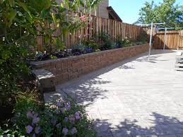 Retaining Wall Patio Side Yard After With Retaining Wall Patio New Fence And Gate