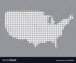 Map Of Unite States by Map Of United States Made Of Squares Royalty Free Vector