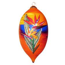 sunset bird of paradise hawaiian ornament by design