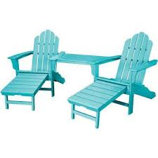 Outdoor Furniture Plastic by Blue Adirondack Chairs Patio Chairs The Home Depot
