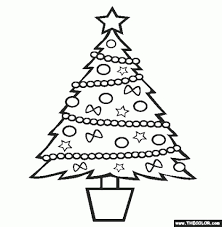 christmas tree online coloring page inside christmas tree coloring