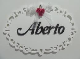 New Placa Aberto Fechado | Elo7 @YV97