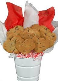 cookie bouquet chip heart shaped cookie bouquet