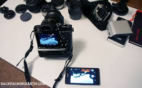 sony smart remote control app with sony a7 a7r backpacking earth