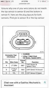 crankshaft position sensor connectors gm forum buick cadillac