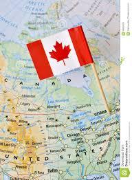 capital of canada map canada map flag pin ottawa stock photo image 58662428