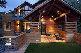 Contemporary Cabin Hillside House Exterior Contemporary With Modern Cabin