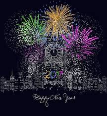 led new years happy new year 2018 written with sparkle firework and led royalty