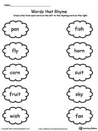 printable rhyming words words that rhyme with ending sound an y orn uit ish