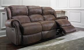 Best Reclining Sofas by Double Recliner Sofa With Console Cleaning Microfiber Four Seasons