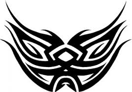 tattoo mask or wings design vector free download
