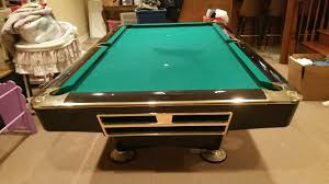 Used Pool Table by Brunswick Billiards Black Gold Crown Pro 8 U0027 Pockets Sold Used