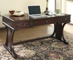 elegant wood office desk with additional modern home interior