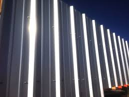 exterior endearing picture of tall corrugated metal cladding